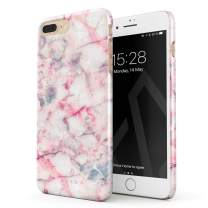BURGA Phone Case Compatible with iPhone 7 Plus / 8 Plus - Raspberry Jam Pink Candy Marble Cute Case for Girls Thin Design Durable Hard Plastic Protective Case