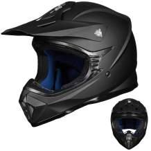 Auboa Outdoor Adult Full Face ATV Off-Road Dirt Bike Motocross Helmet Motorcycle BMX MX MTB Mountain Bike Helmet Racing Style DOT Approved