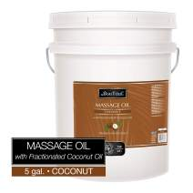 Bon Vital' Coconut Massage Oil Made with 100% Pure Fractionated Coconut Oil to Repair Dry Skin, Used by Massage Therapists and at-Home Use for Therapeutic Massages and Relaxation, 5 Gallon Pail