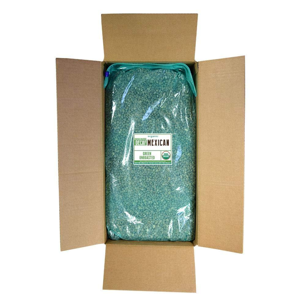 Fresh Roasted Coffee LLC, Green Unroasted Mexican Decaffeinated Coffee Beans, USDA Organic, Swiss Water Process, Bulk 25 Pound Bag