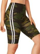 Milumia Women's Active Sports Workout Shorts Tights Stretch High Waist Cycling Shorts