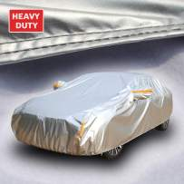 Tecoom Super Heavy Duty Multiple Layers Coupe/Convertible/Sport Car Cover All Weather Waterproof Windproof Snow Sun Rain UV Protective Outdoor with Buckles and Belt Fit 170-180 inches Length