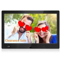 MRQ 10 Inch Digital Picture Frame Play Photos with Slideshow, Full HD IPS Display View Angle Digital Photo Frame with MP3, Calendar, Alarm, Remote Control Function Black