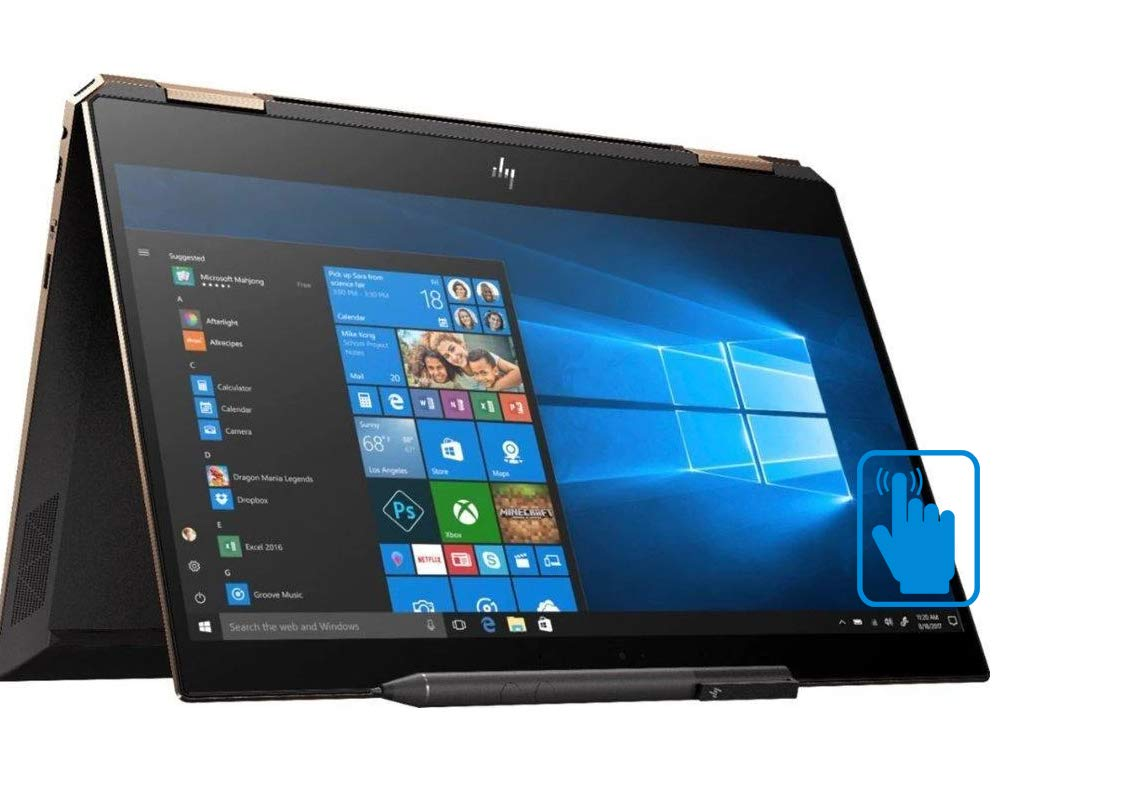"HP Spectre x360-13t Home and Business Laptop (i7-8565U 4-Core, 16GB RAM, 1TB PCIe SSD, 13.3"" Touch Full HD (1920x1080), Intel UHD 620, Active Pen, Fingerprint, WiFi, Bluetooth, Webcam, Win 10 Pro)"