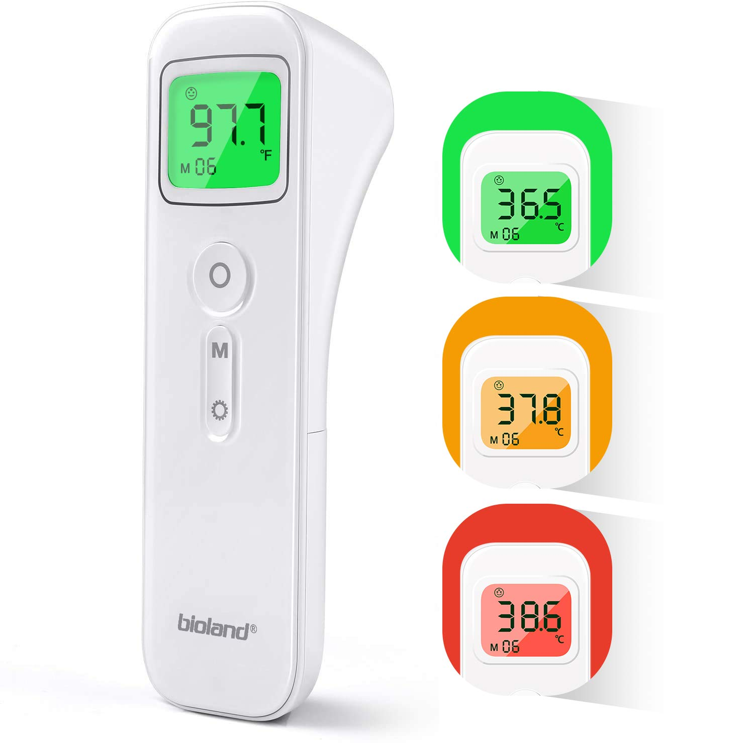 HAMSWAN Non-Contact Digital Infrared Forehead Thermometer Digital Infrared Temperature Gun with LCD Display Accurate Instant Readings Thermometer for Kids Baby Adult