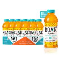 Roar Organic Electrolyte Infusions - USDA Organic - Mango Clementine - with Antioxidants, B Vitamins, Low-Calorie, Low-Sugar, Low-Carb, Coconut Water Infused Beverage 18 Fl Oz (Pack of 12)