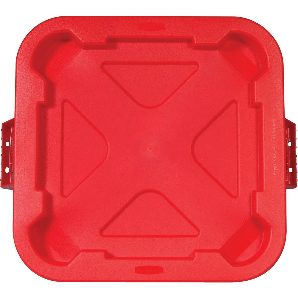 Rubbermaid Commercial Products BRUTE Square Bin Storage Container Lid, 40-Gallon, Red (FG352900RED)
