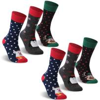 Christmas Stocking Socks, ZEAL WOOD Holiday Casual Gifts For Women 1/3/6 Pairs