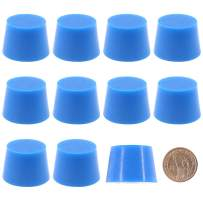 """Hilitchi Silicone Rubber Plug Kit Tapered Stopper Silicone Plugs for Powder Coating Painting Anodizing Plating Vacuum Test Plugging Hydraulic Fuel and Oil Lines (Large Blue-10Pcs, 1 3/16""""×1 7/16"""")"""