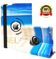 iPad Mini 4 Case - 360 Degree Rotating Stand Case Cover with Auto Sleep/Wake Feature for iPad Mini 4 (Beach)