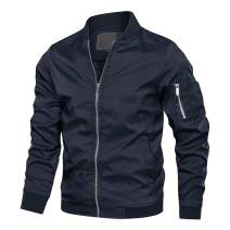 MAGCOMSEN Men's Bomber Jacket with Pockets Lightweight Spring Summer Outwear Windbreaker