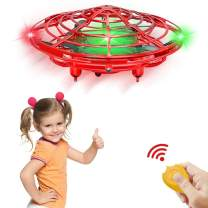 CPSYUB Hand Operated Drones for Kids or Adults, Kids Mini Drone Toys for Age 4, 5, 6, 7, 8, 9 10 Year Old Boys, Easy Indoor Small UFO Flying Ball Drone Toys for Boys and Girls Gifts (Red)