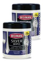 Weiman Jewelry Polish Cleaner and Tarnish Remover Wipes - 20 Count - 2 Pack - Use on Silver Jewelry Antique Silver Gold Brass Copper and Aluminum