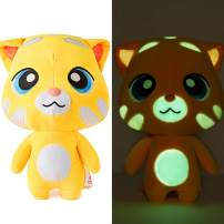 TALKING TOM AND FRIENDS Stuffed Animal Night Light Seal Glow Pets Plush Toys Cat Creative Night Light Lovely Glow Soft Plush Toy Toy Luminous Toy Gifts for Kids Puppet(Ginger, 11.8inches)