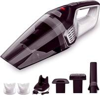 Homasy Portable Handheld Vacuum Cleaner Cordless, 8000Pa Powerful Cyclonic Suction Vacuum Cleaner, 14.16V Lithium with Quick Charge Tech, Wet Dry Lightweight Hand Vac