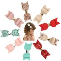Baby Girl Hair Clips, Bows Barrettes Fully Lined Alligator Clip Hair Accessories for Girls