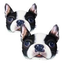 VXAR Car Auto Headrest Pillow Dog (Bulldog 2Pcs)