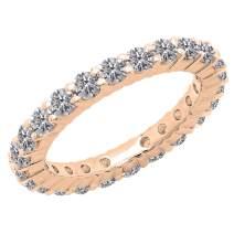 Dazzlingrock Collection 1 Carat (ctw) 18K Gold Round Lab Grown Diamond Ladies Wedding Band Ring 1 CT
