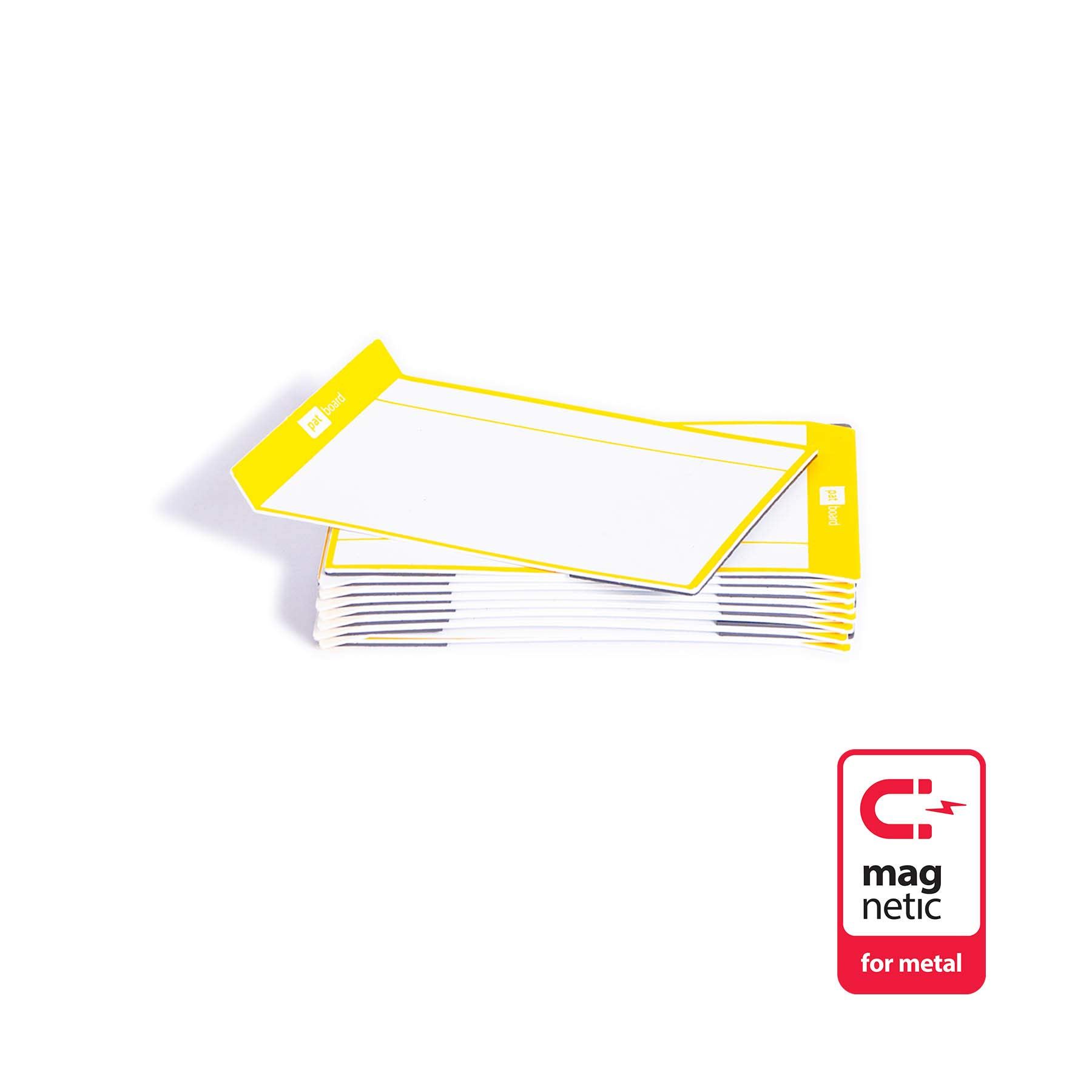 PATboard Scrum Board and Kanban Board Medium TASKcards Magnetic - Yellow
