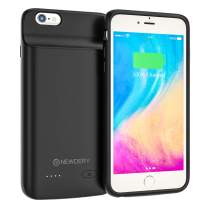 NEWDERY Battery Case for iPhone 6 Plus,6s Plus, 5000mAh Extended Battery Pack Charging Case for iPhone 6Plus, 6s Plus 5.5inch Portable Rechargeable Battery Case Protective Backup Charger Case