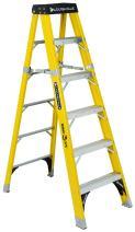 Louisville Ladder FS1108HD Fiberglass Step Ladder, 8 Feet, 375 Pound Duty Rating