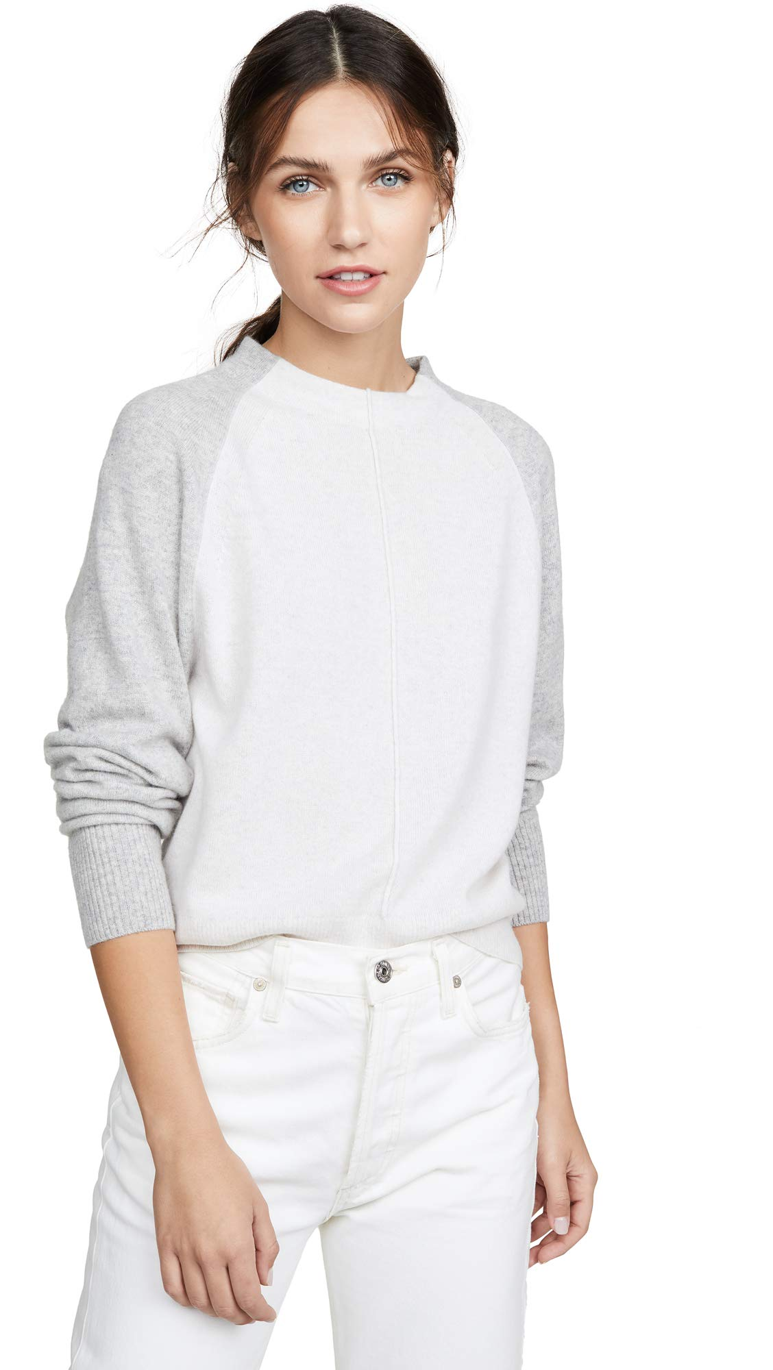 Vince Women's Colorblock Raglan Cashmere Sweater