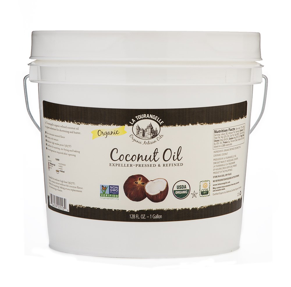 La Tourangelle, Organic Refined Coconut Oil, 128 Fluid Ounce