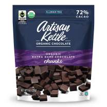 Artisan Kettle Organic Dark Chocolate Chunks, 10 Ounce (Pack of 6)