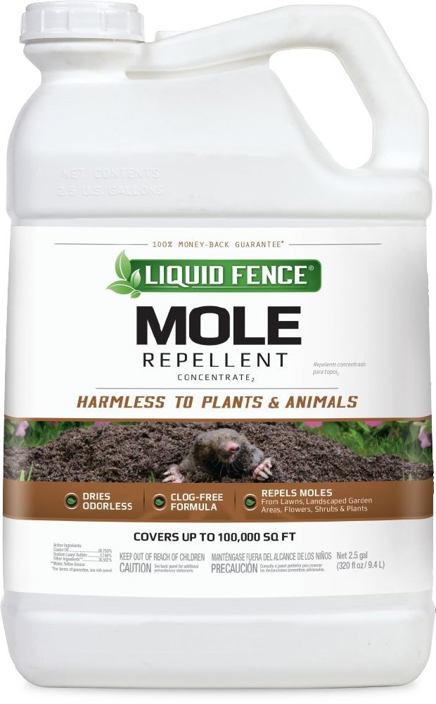 Liquid Fence Mole Repellent Concentrate, 2.5-Gallon