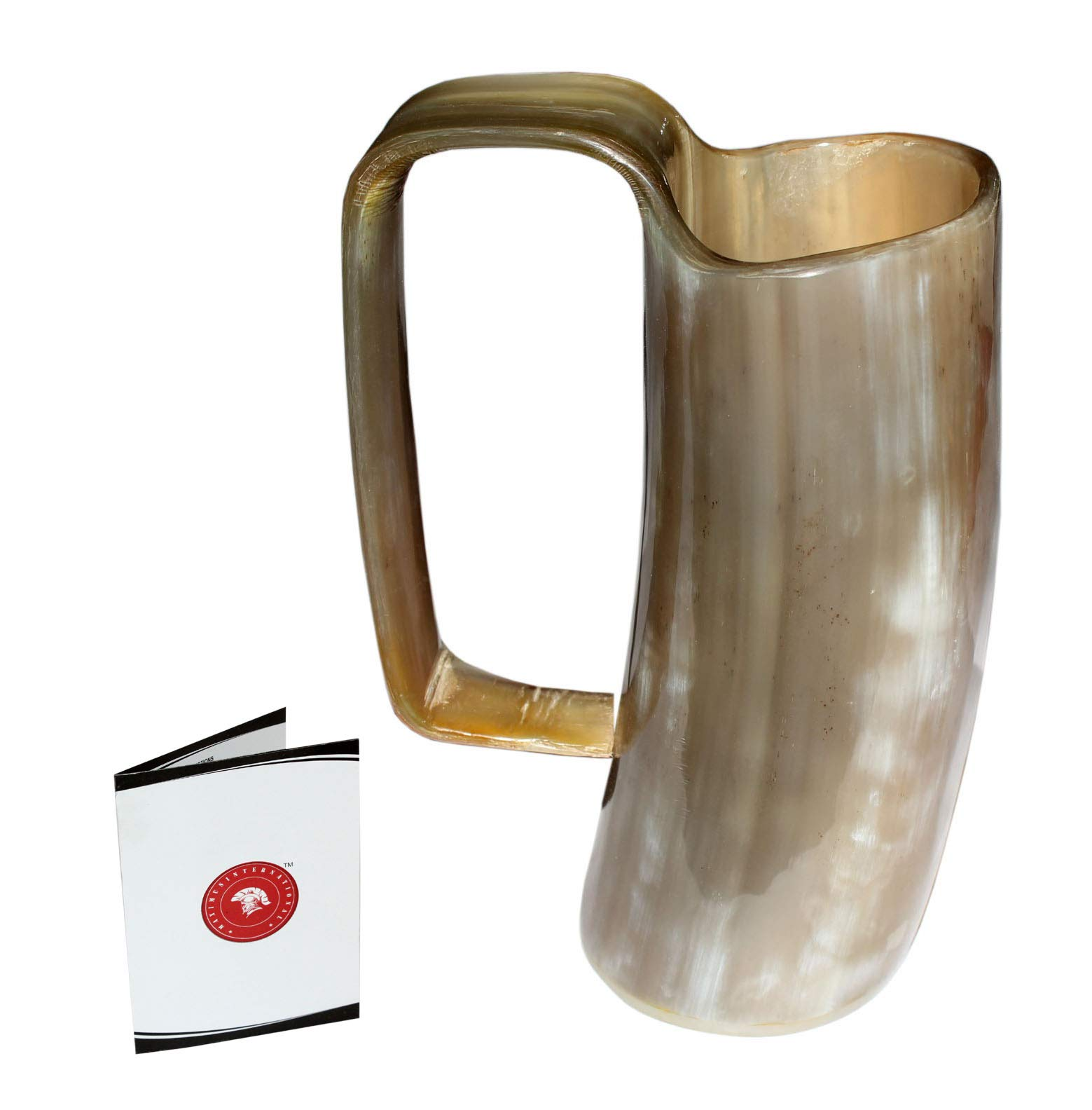 5MoonSun5's VIKING DRINKING HORN MUG Handcrafted Ox Cup Goblet - Drink Mead & Beer Like Game of Thrones With This Large Ale Stein - A Perfect Present For Real Men (HBCUP-572) sq
