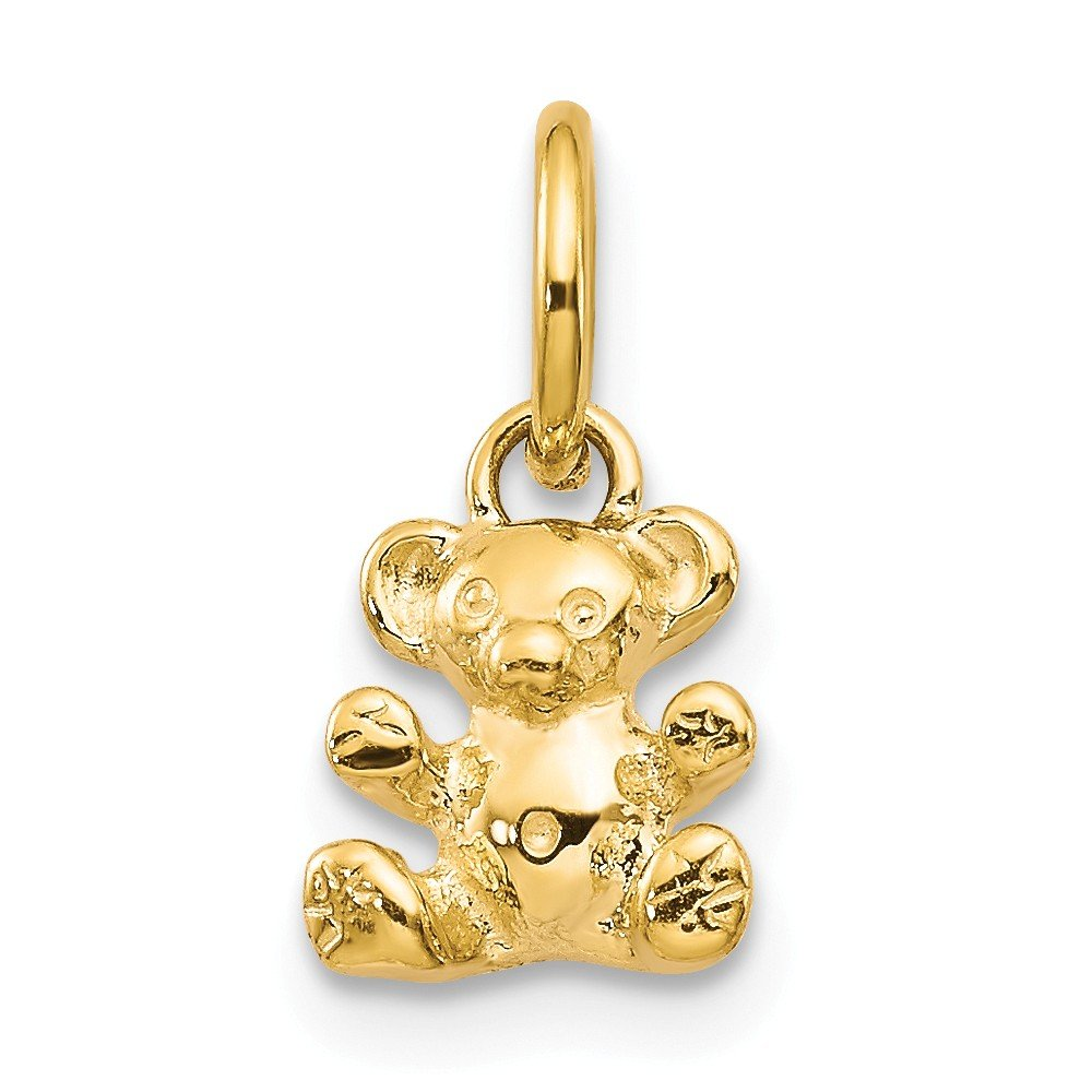 14k Yellow Gold Teddy Bear Pendant Charm Necklace Baby Fine Jewelry For Women Gifts For Her