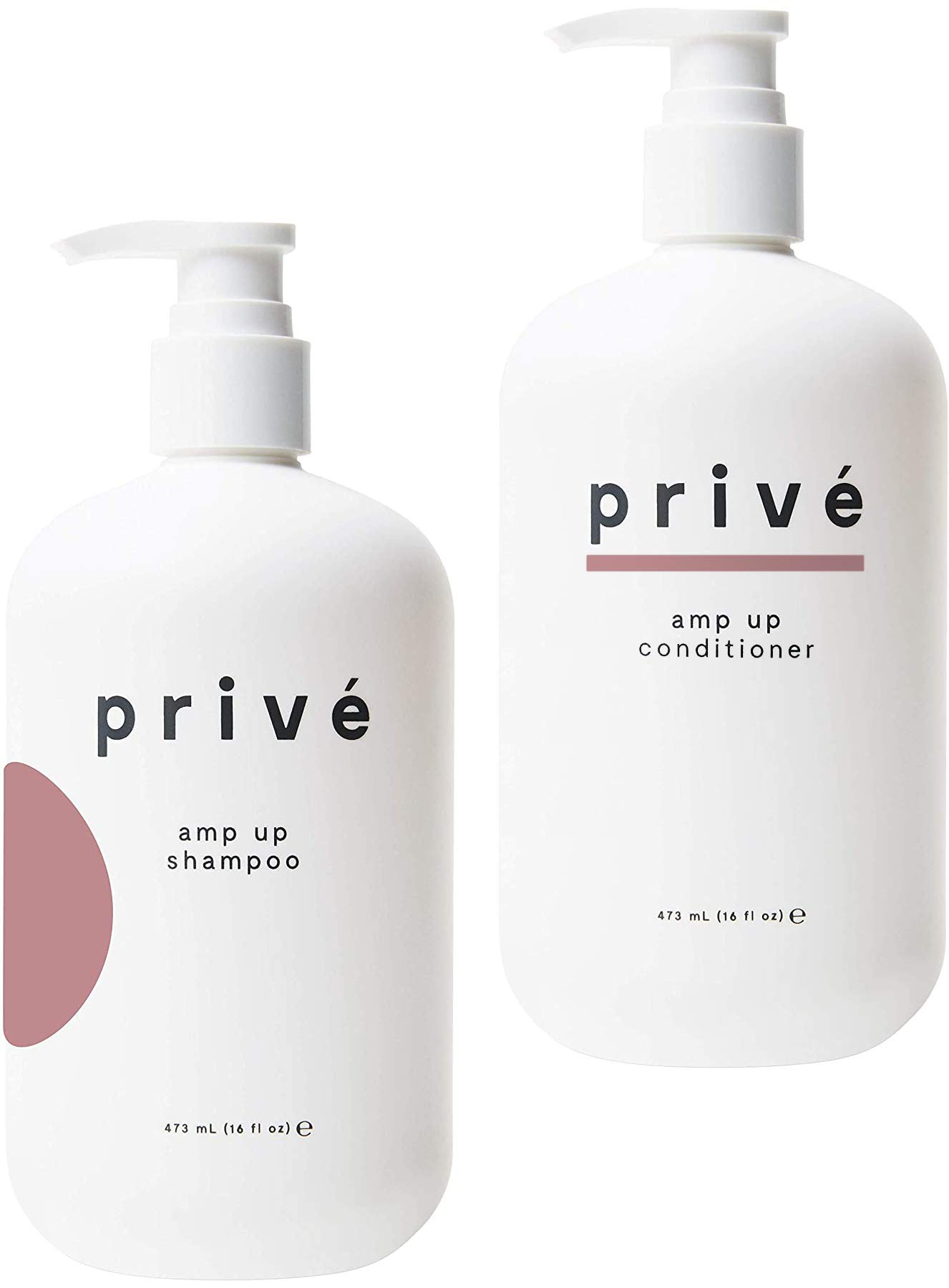 Privé Amp Up Shampoo and Conditioner Kit – Clarifying Shampoo & Volumizing Conditioner – Purifying Shampoo & Weightless Conditioner for Oily, Fine, Thin Hair – Natural Ingredients, 16 oz each