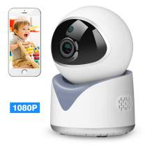1080P WiFi Dog Pet Camera, Indoor Wireless Security Camera Baby Monitor with Motion Detection /Two-Way Audio/Night Vision / Cloud Storage