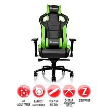 Thermaltake Tt eSPORTS GT Fit F100 Racing Bucket Seat Style Ergonomic Gaming Chair Black/Green