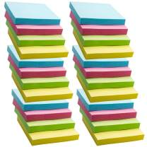 AWEI AZHI Super Sticky Notes, 24 Pads Self-Stick Notes, 100 Sheets/Pad, Sticky Notes 3x3 inch with Assorted Colors, Post Notes for Study, Works, Daily Life