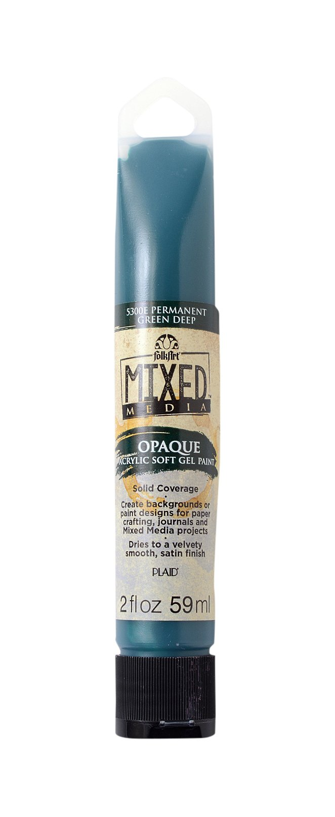 FolkArt Mixed Media Color Spray Acrylic Paint in Assorted Colors (2 Ounce), 5330E Black