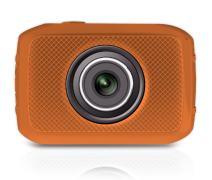 """Mini HD Sports Action Camera - Camcorder w/ 5.0 MP Camera, 2"""" Touch Screen, USB SD Card, Rechargeable Battery - Waterproof Case, Bike Handle bar, Helmet Mount, Car Charger - Pyle PSCHD30OR (Orange)"""