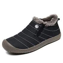 XIDISO Winter Boots for Men Women Water Resistant Anti-Slip Fur Lined Outdoor Snow Boot