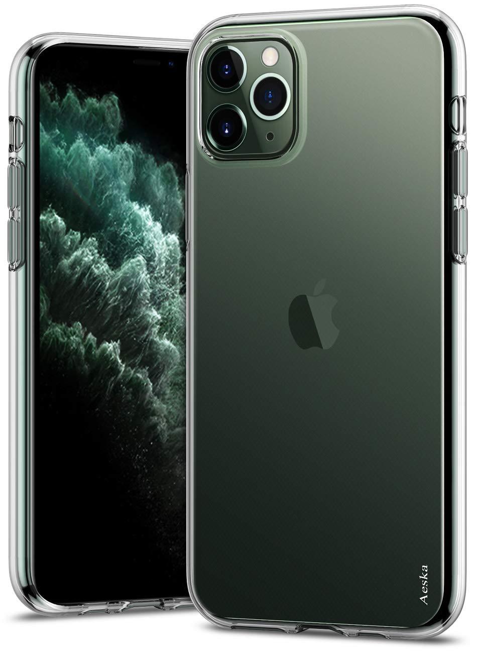 Aeska iPhone 11 Pro Max Case, Ultra [Slim Thin] Flexible Clear Soft TPU [Anti-Scratches] Anti-Slip TPU Gel Premium Rubber Skin Silicone Protective Case Cover for iPhone 11 Pro Max 6.5'' (Clear)