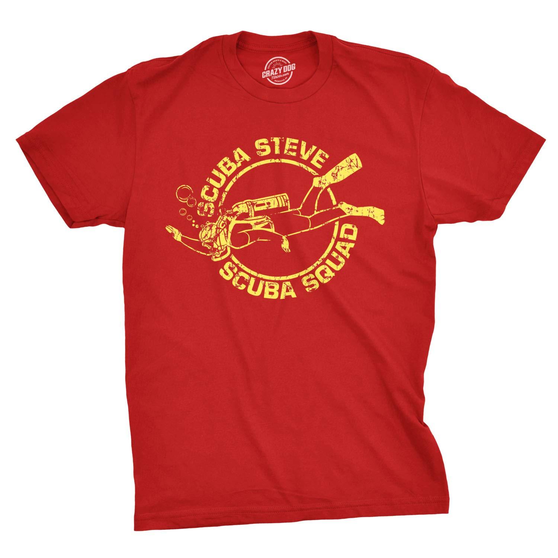 Scuba Steve Scuba Squad T-Shirt Funny Movie T Shirt Retro Boating Joke