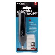 Mont Marte Electric Eraser, Includes 30 Eraser Refills. Suitable for use with Graphite Pencils and Color Pencils.