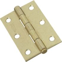 National Hardware N142-067 V508 Removable Pin Hinges in Brass, 2 pack
