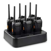 Retevis RT27 Walkie Talkies for Adults,Two Way Radios Long Range,Rechargeable Handheld Portable 22 CH,2 Way Radio(6 Pack) with 6 Way Charger Base,Business Construction