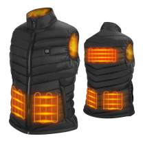 NUNEWARES 5V Heated Vest for Men and Women USB Charging Electric Lightweight Size Adjustable Heated Jacket for Outdoor Motorcycle Travel Riding Golf Hunting Hiking (Battery Not Included)