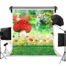 Kate 5x7ft/1.5m(W) x2.2m(H) Spring Backdrop Mushroom Background Children Photography Studio Prop