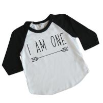 Boy First Birthday Outfit First Birthday Shirt One Year Old Outfit (6-12 Months) Black