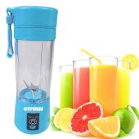 Cypress, Smart Portable USB Rechargeable Blender/Mixer Smoothie/Baby Food Mixing Machine Maximum Capacity 380 Milliliter, Best for Travel, Home and Personal Use (Blue)