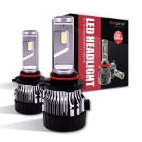 Sinoparcel 9005 LED Headlight Bulbs,Mini HB5 High Beam All-in-One 10000LM per Set Light Conversion Kits - 2 Yrs Warranty