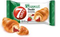 7Days Soft Croissant, Strawberry Vanilla Filling, Perfect Breakfast Pastry or Snack, Non-GMO (Pack of 24)