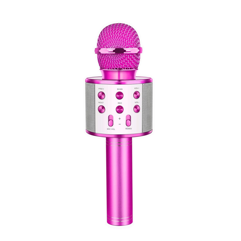 Kids Microphone, Dreamingbox Fun Toys for 5-12 Year Old Girls Boys Wireless Portable Karaoke Microphone for Kids Birthday Gifts for 5-12 Year Old Girls Boys Purple